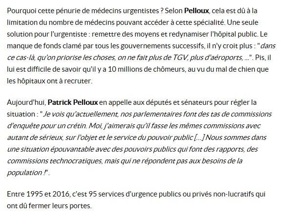 Interview Patrick Pelloux hôpitaux publics Sud Radio (3)