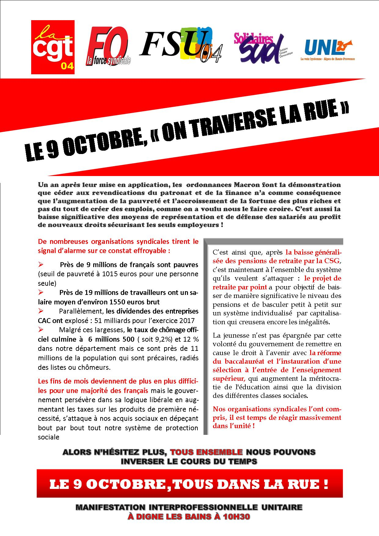 1003. Tract intersyndical mobilisation du 9 octobre (2)