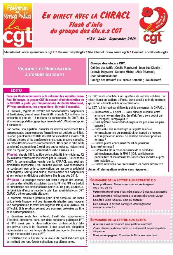 992. Flash Info des élus CGT CNRACL