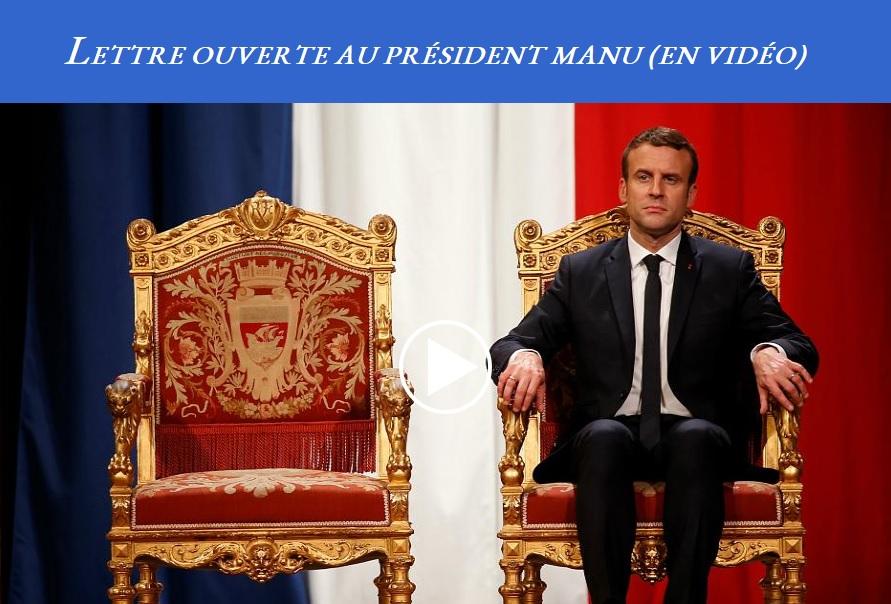 Lettre ouverte au président Manu