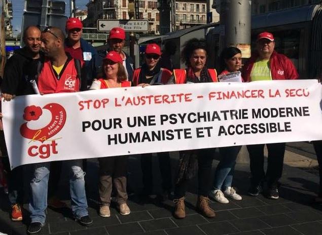 Rassemblement CGT Psychiatrie PACA