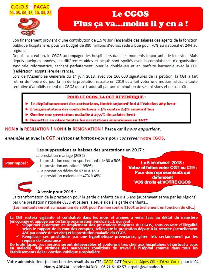 Tract info CGT CGOS hôpital EHPAD