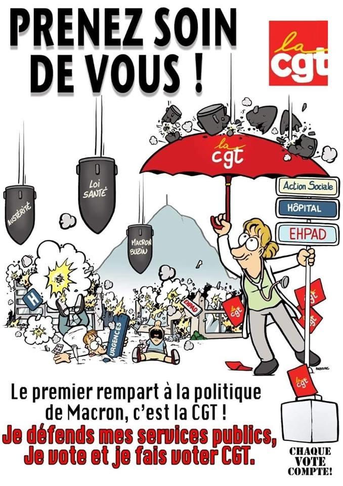Je vote CGT pour défendre les services publics