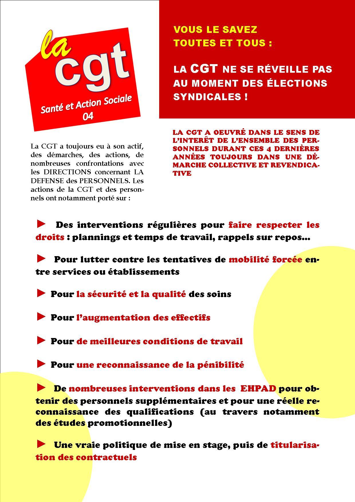USD CGT Santé élections professionnelles 6 décembre 2018 (2)