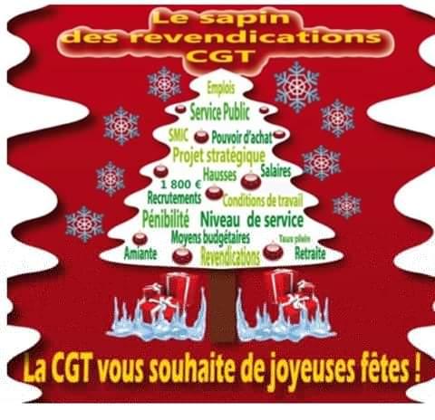 La CGT vous souhaite de joyeuses fêtes