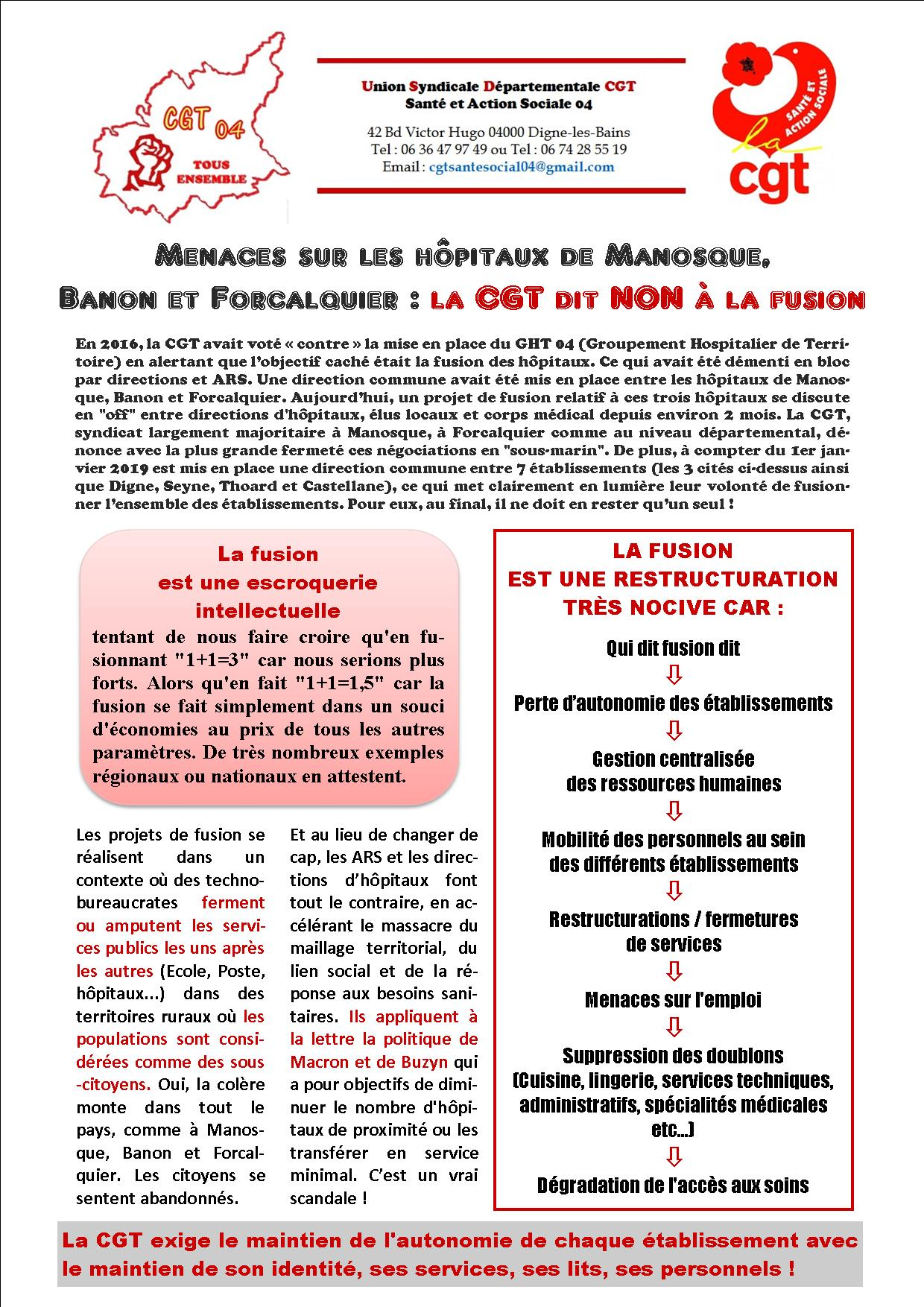 Menace de fusion hôpital Manosque Banon Forcalquier (1)