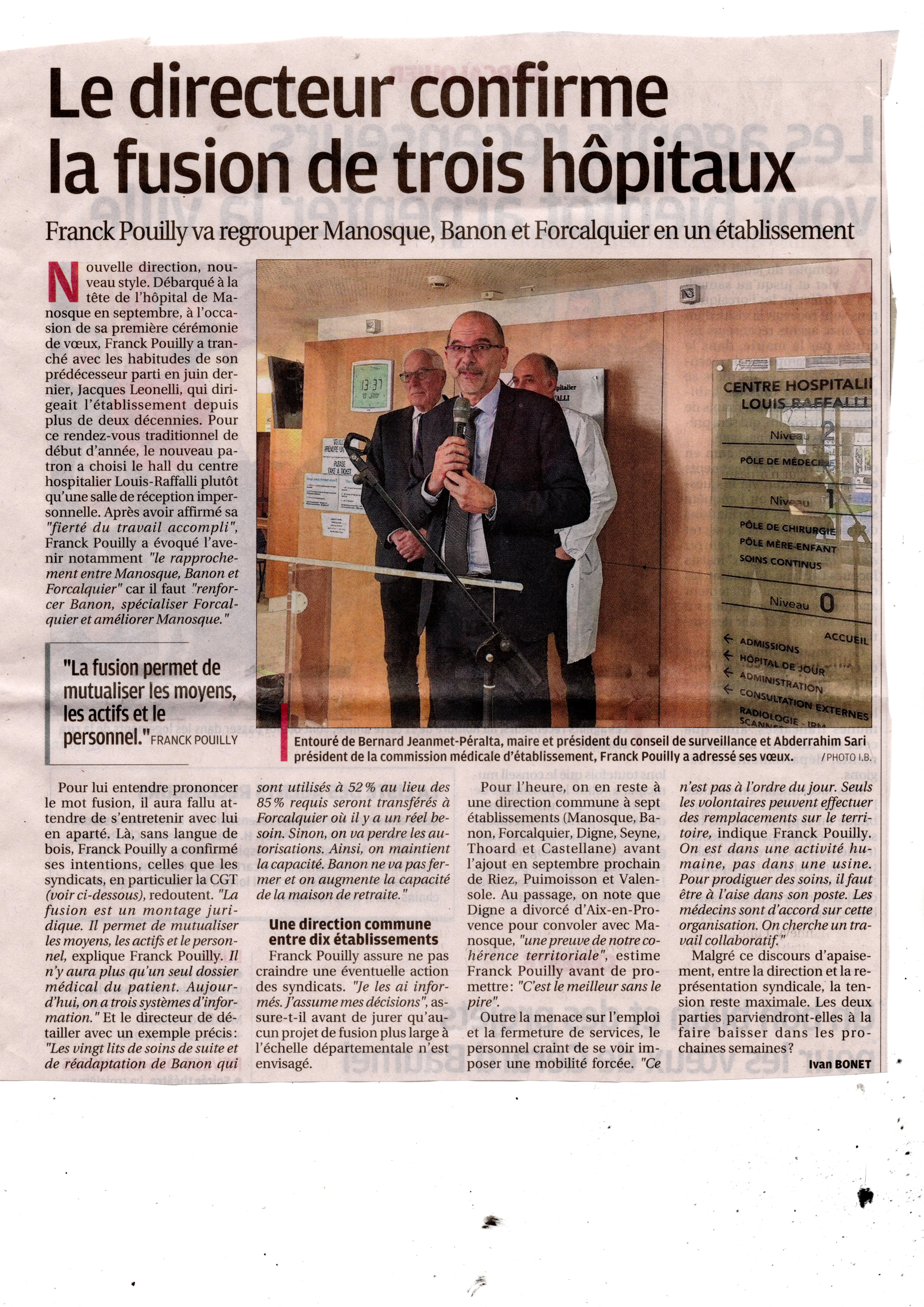 1046. Article la Provence 11 janvier 2019 (p1)