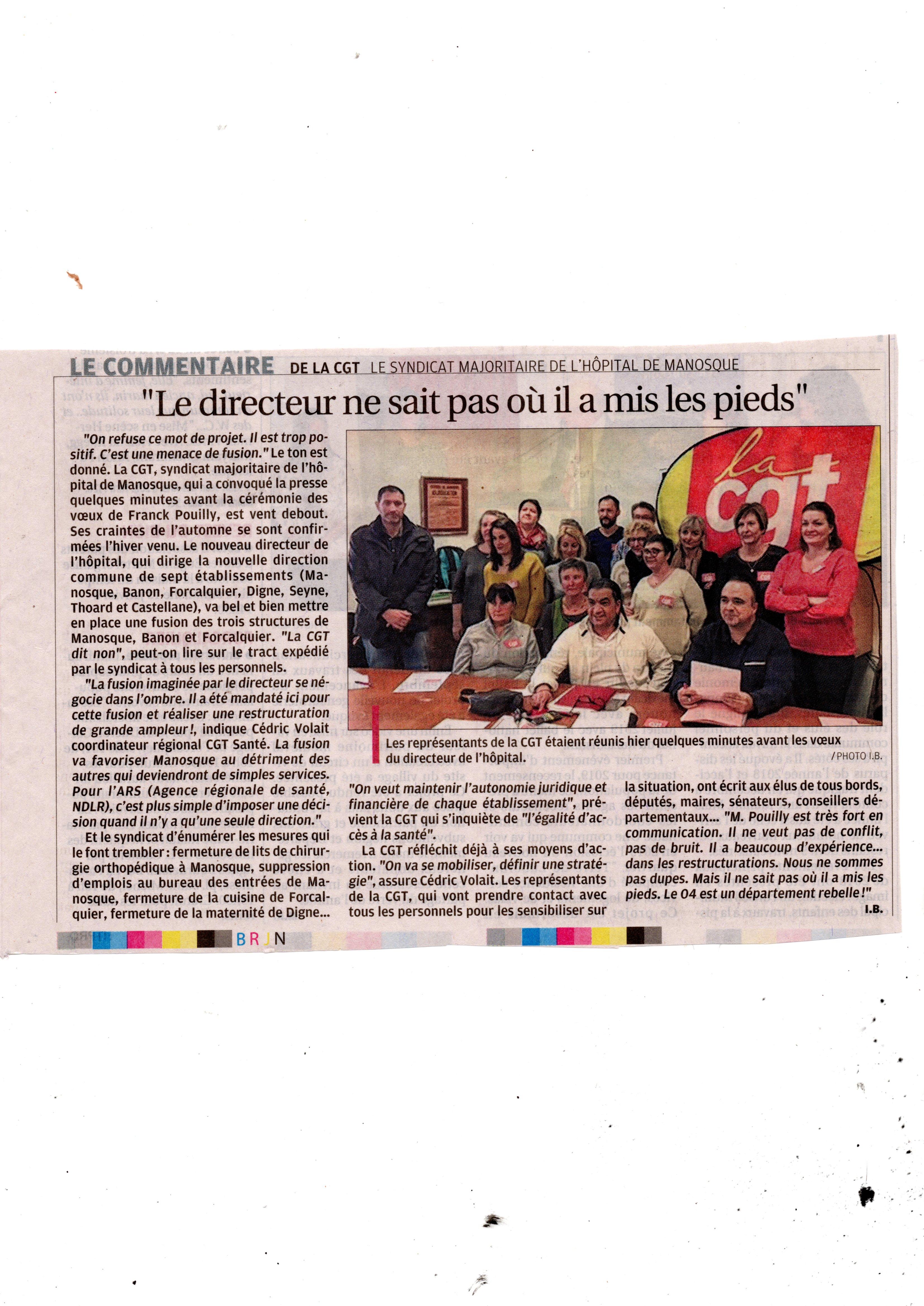 1046. Article la Provence 11 janvier 2019 (p2)