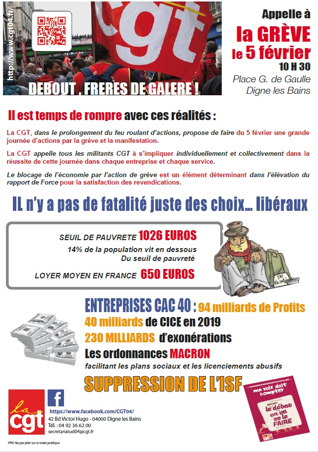 Tract UD CGT 04 - 5 février 2019 (p1)