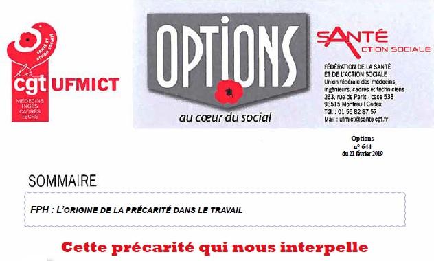 1066. Options UFMICT précarité CGT