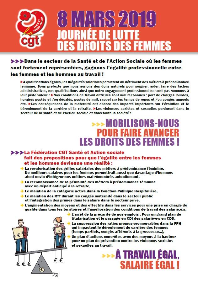 Le 8 mars journée de lutte des droits des femmes (1)
