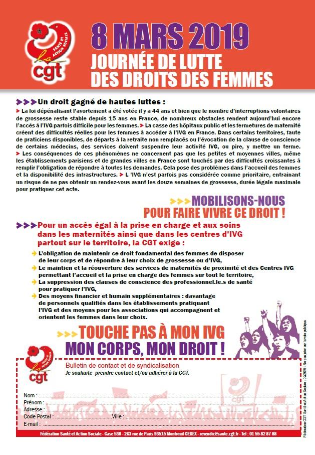 Le 8 mars journée de lutte des droits des femmes (2)