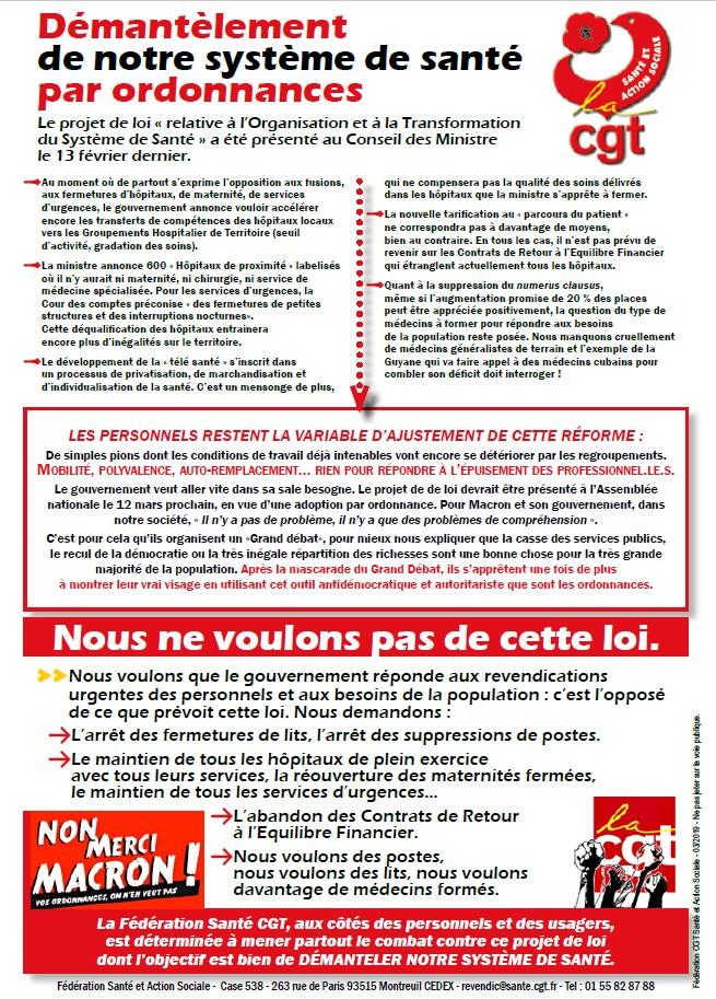 Tract Projet de Loi Santé Buzin