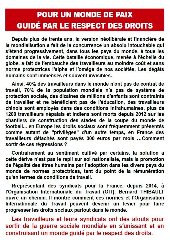 Bernard Thibault, la 3ème guerre mondiale est sociale (2)