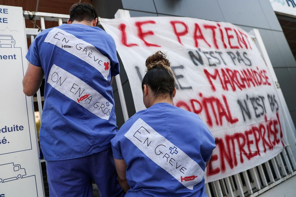 Hôpital Urgences en grève