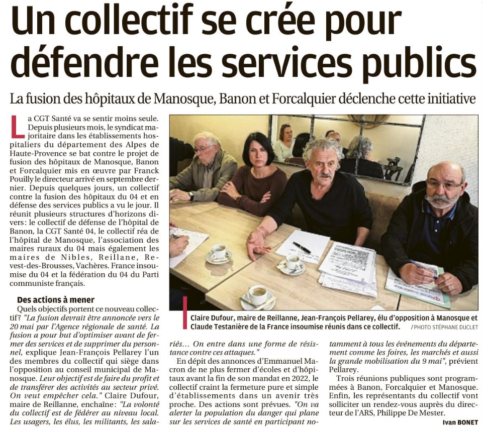 Article La Provence du 7 mai 2019 collectif fusion