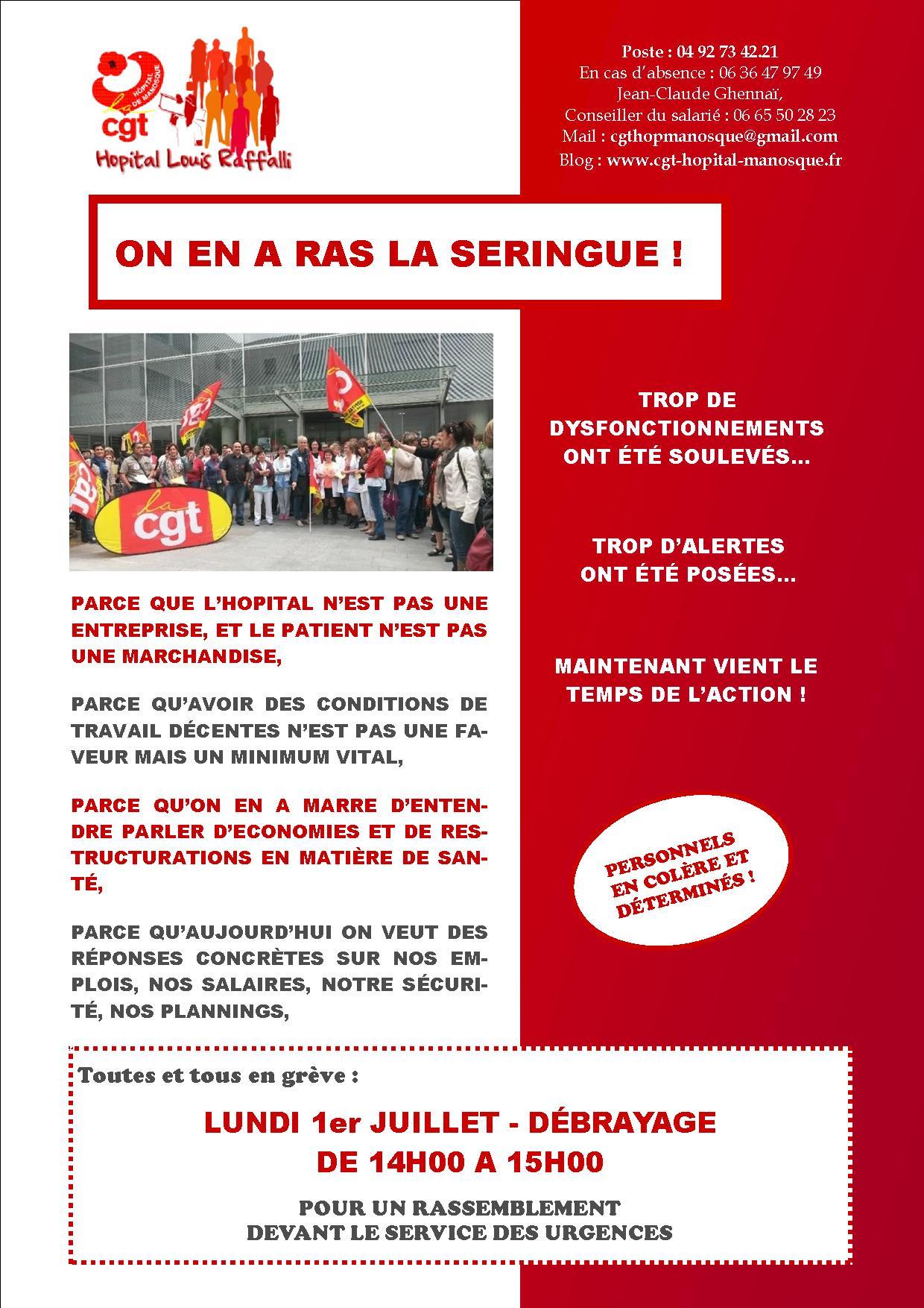 Tract 2 grève urgences hôpital Manosque