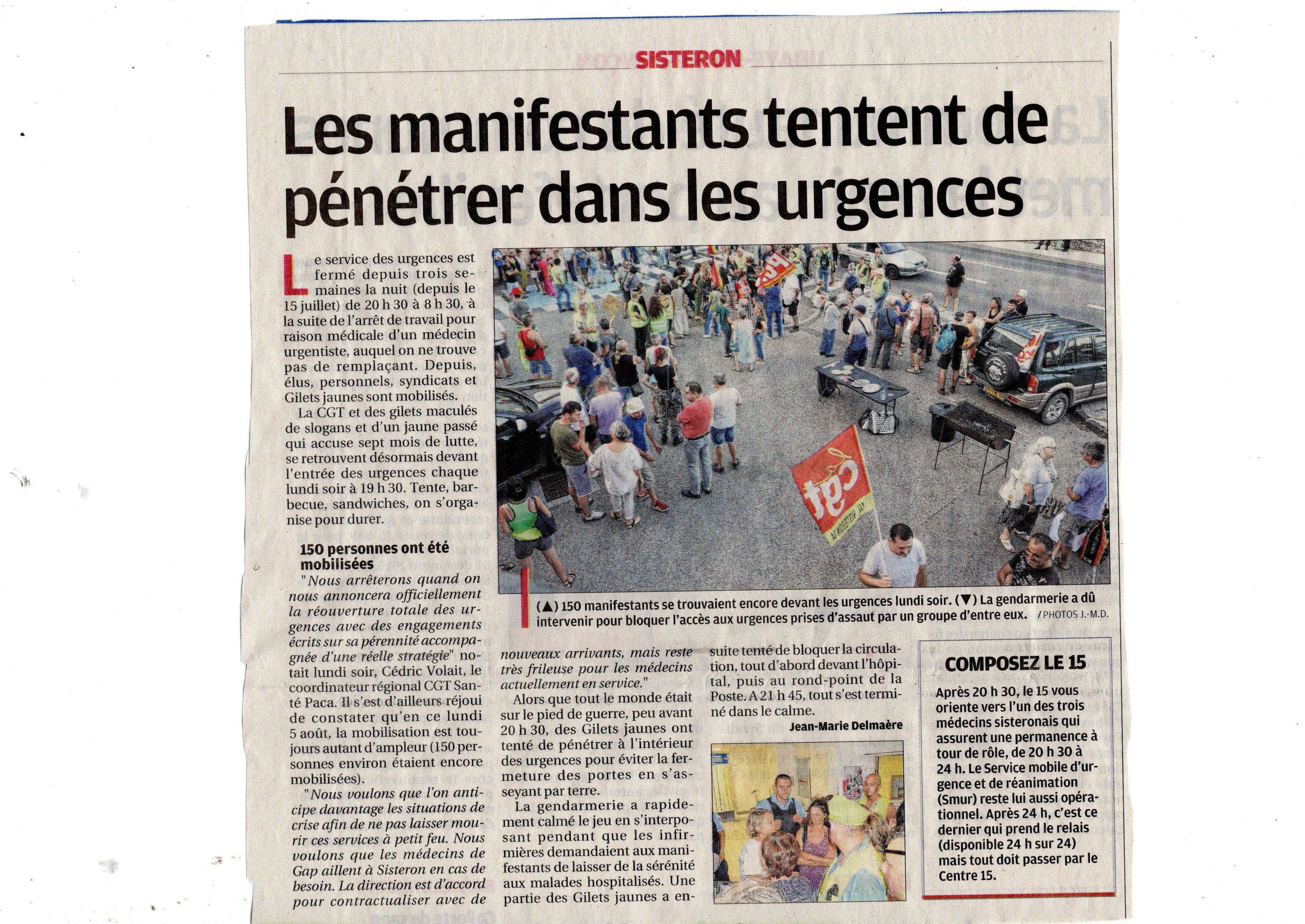 1153. Article La Provence du 7 août 2019