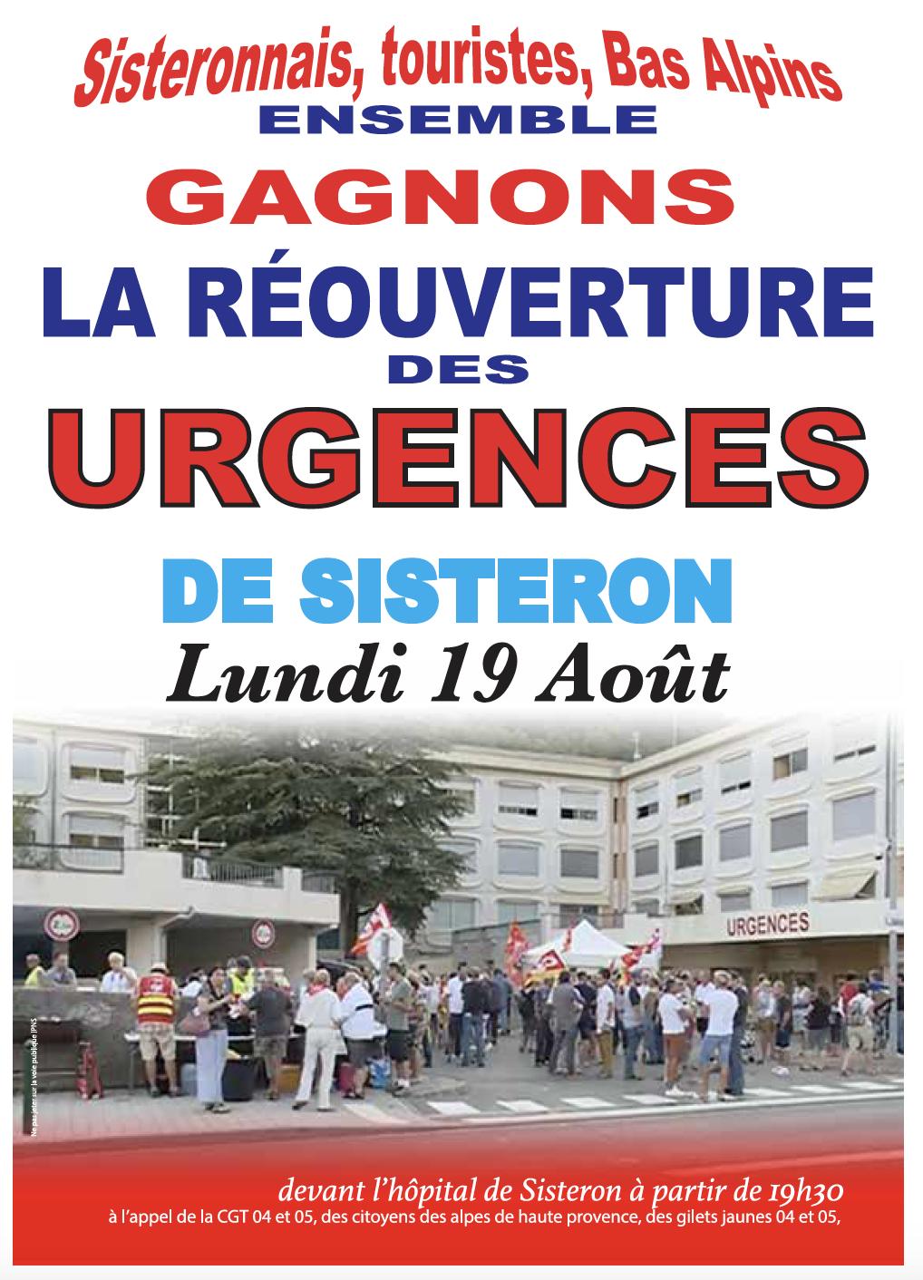 1155. Tract Urgences Sisteron pour le 19 août