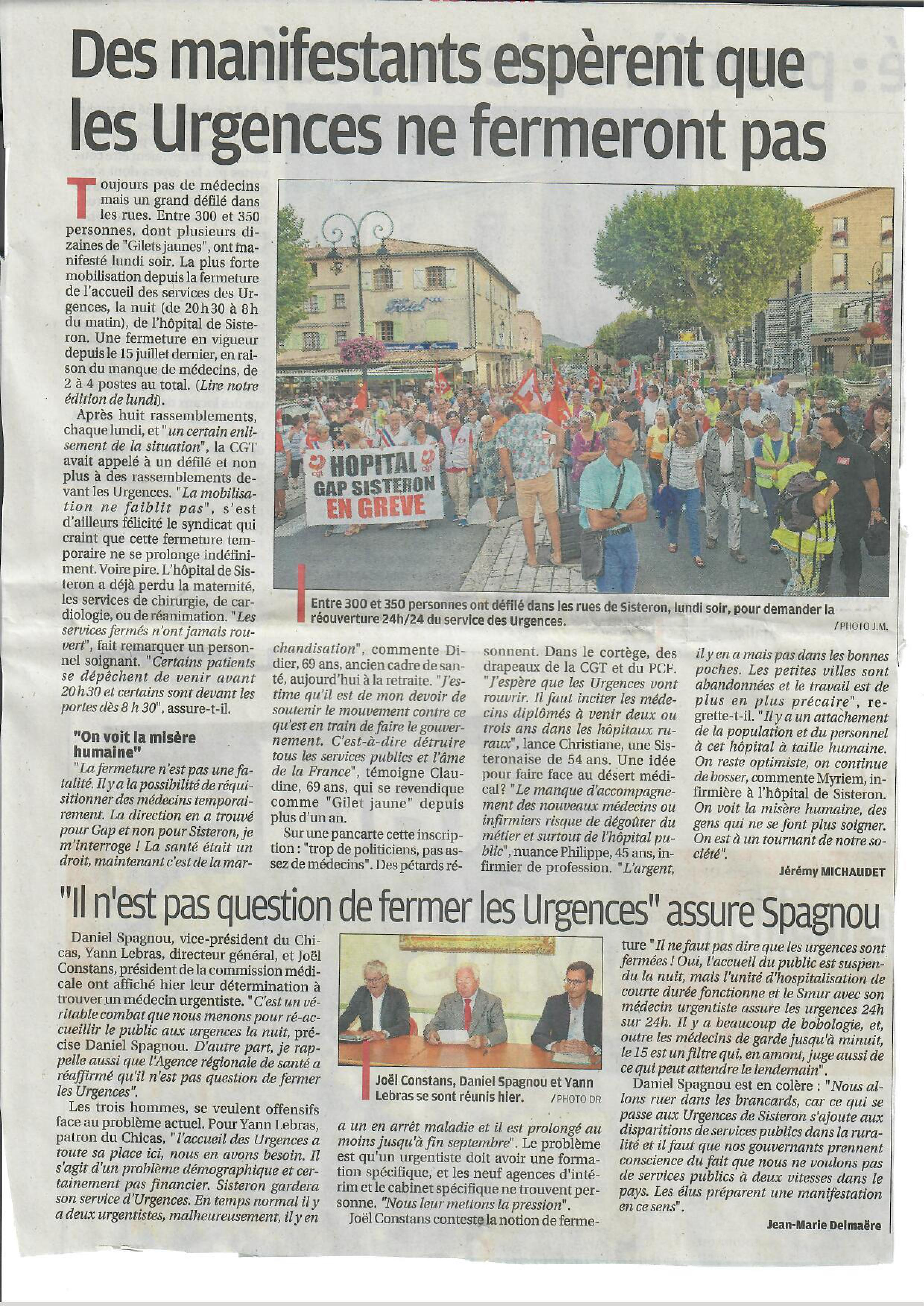 1160. Article La Provence du 29 août 2019