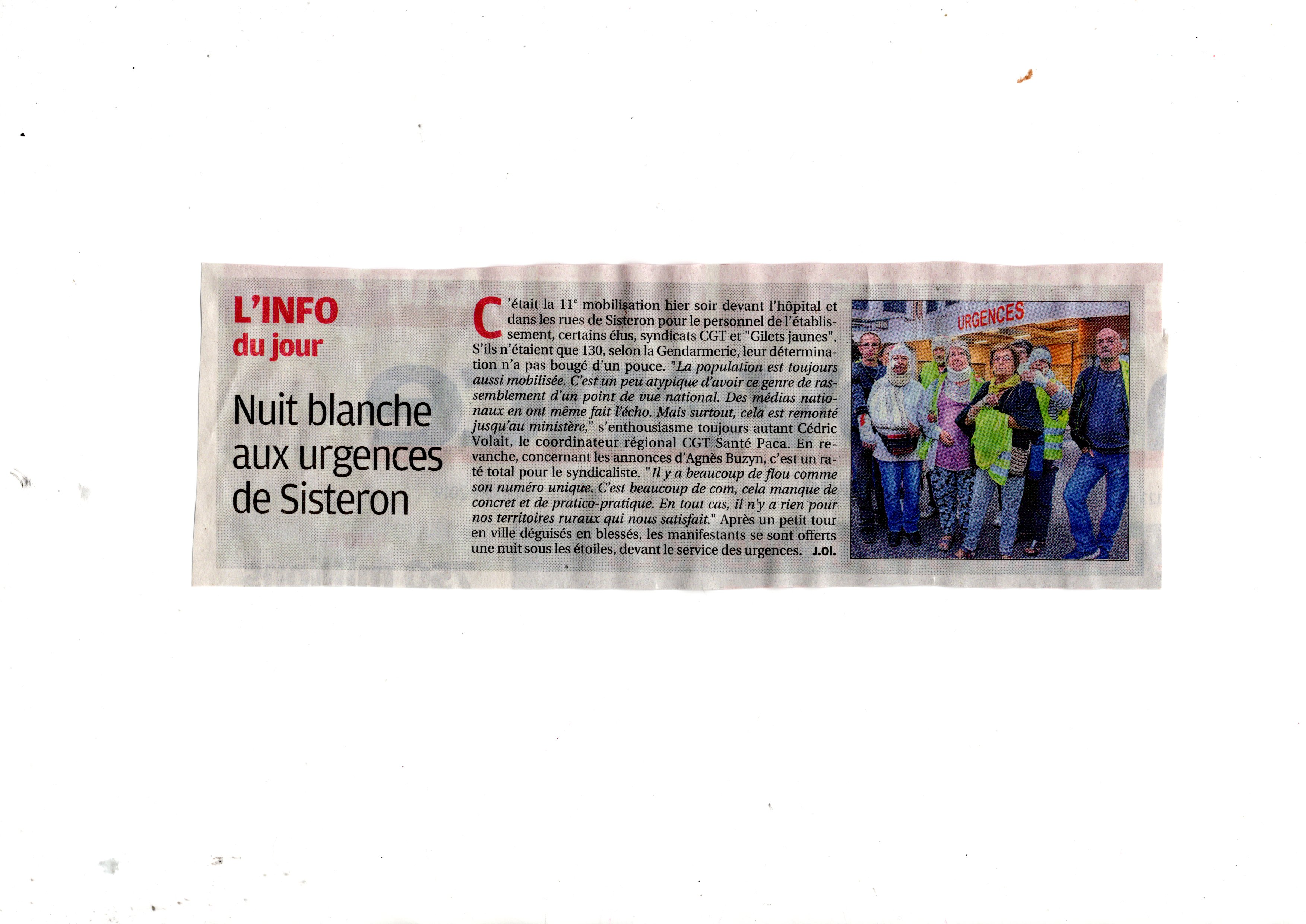 1164. Article La Provence du 10 septembre 2019