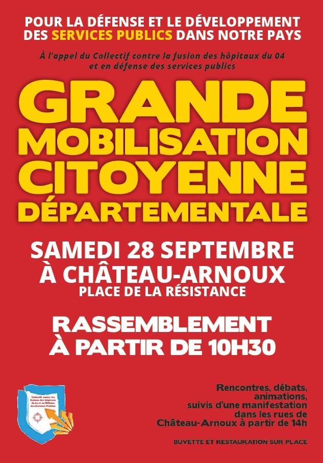 Mobilisation services publics du 28 septembre 2019