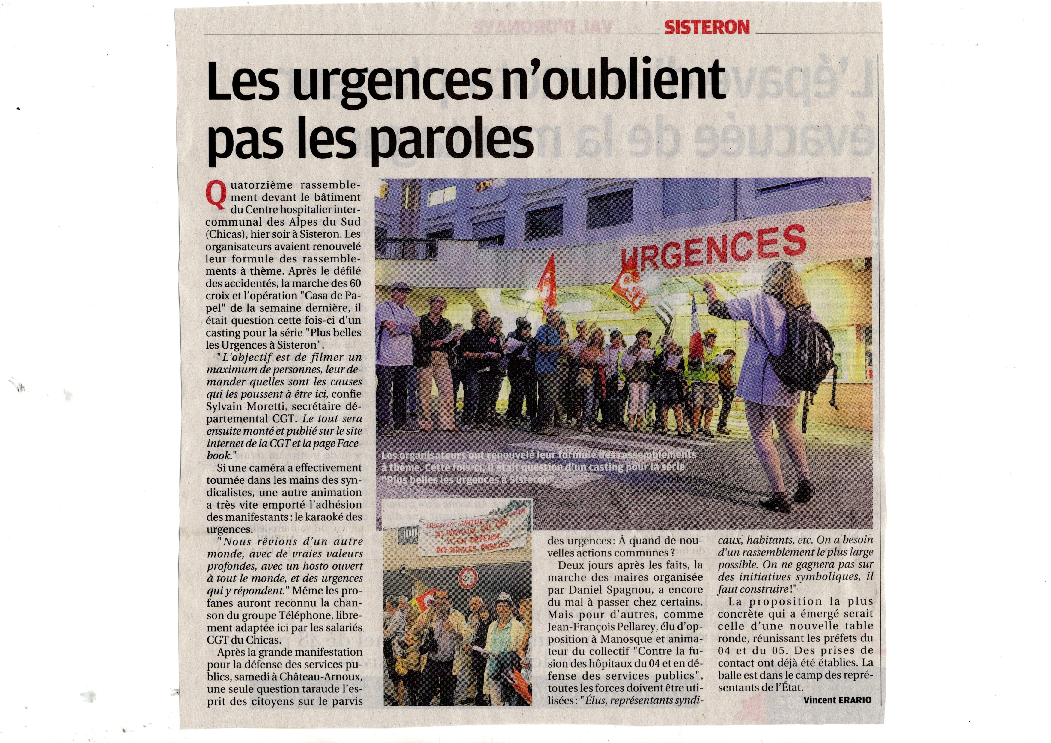Article La Provence du 1er octobre 2019
