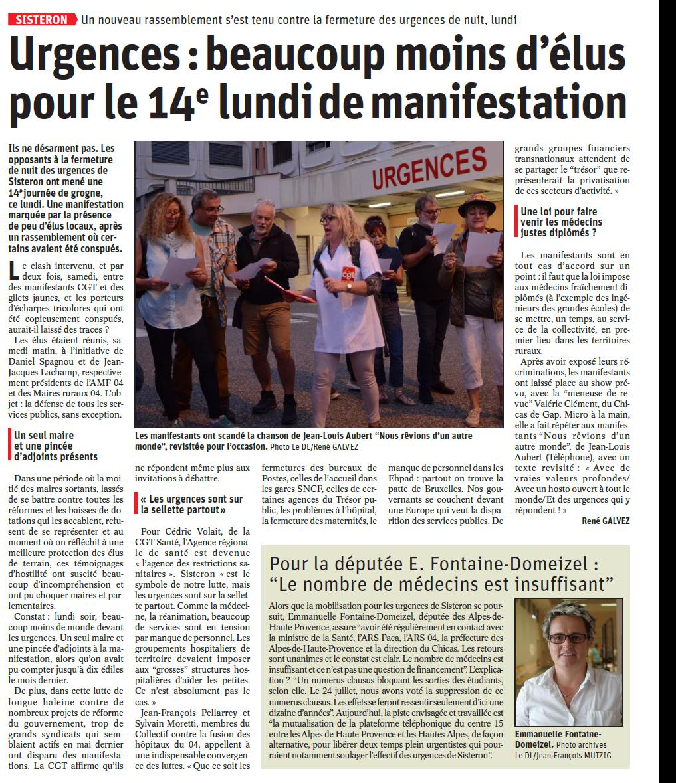 Article Le Dauphiné du 2 octobre 2019