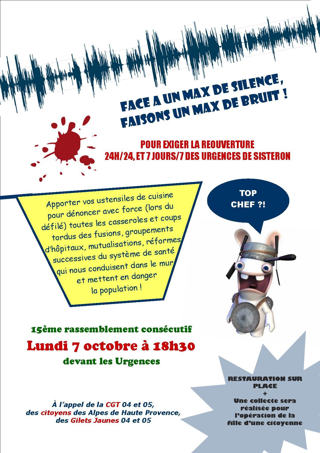 Tract pour le 7 octobre 2019 urgences Sisteron