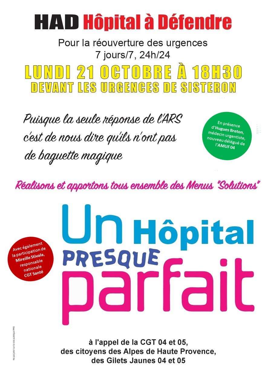 Tract un hôpital presque parfait, urgences Sisteron