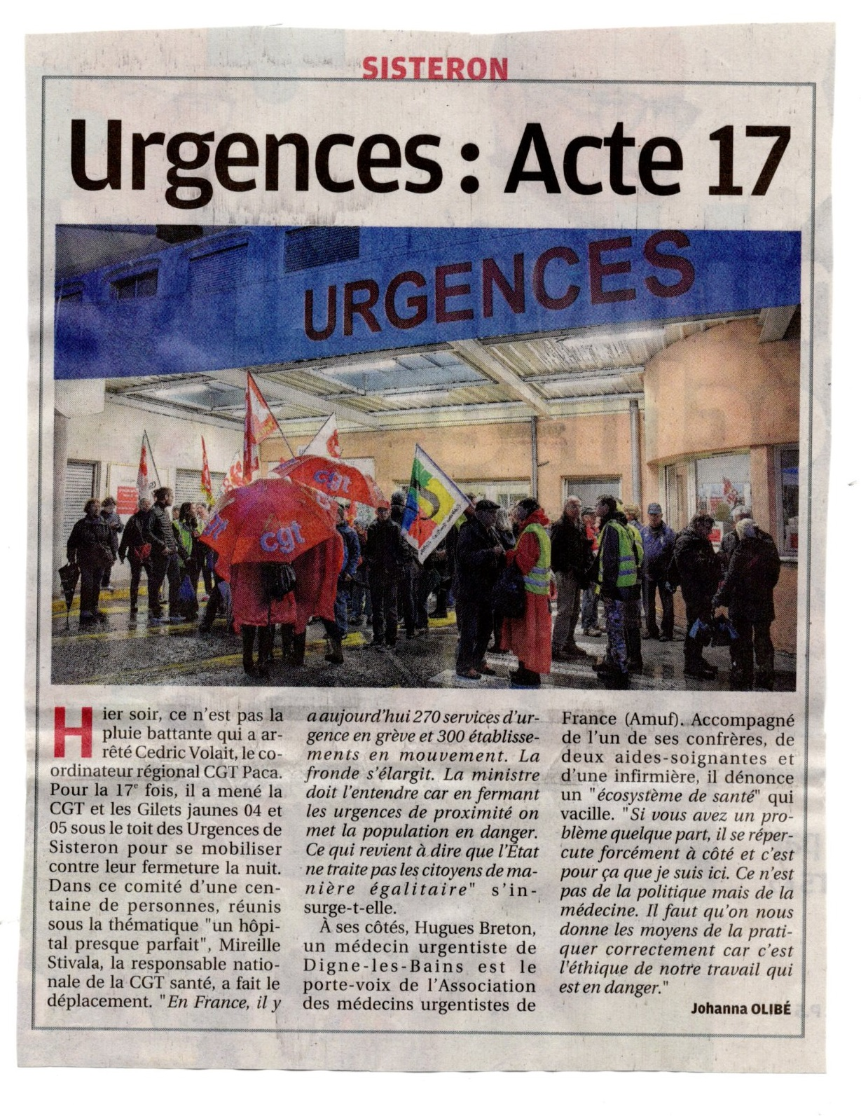 1182. Article La Provence du 22 octobre 2019
