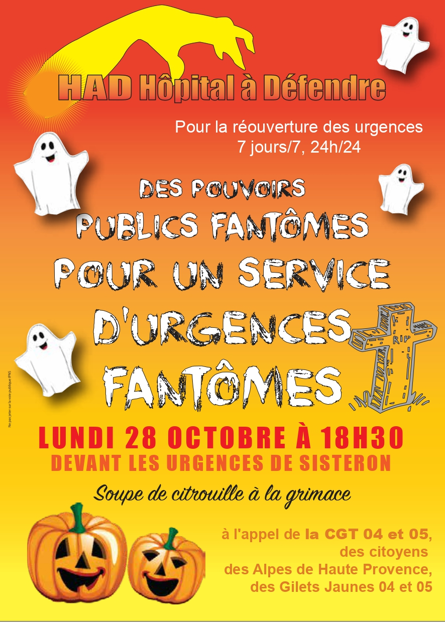 Tract grève crise urgence Sisteron 28 octobre 2019