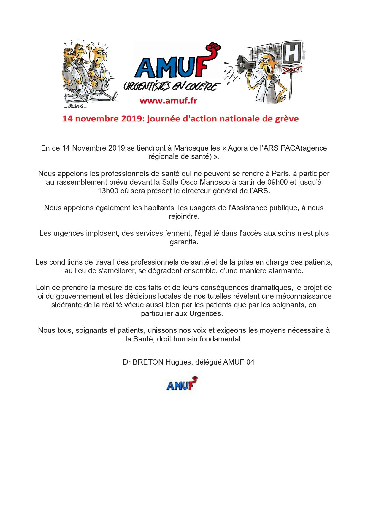 Tract AMUF 04 pour le 14 novembre 2019