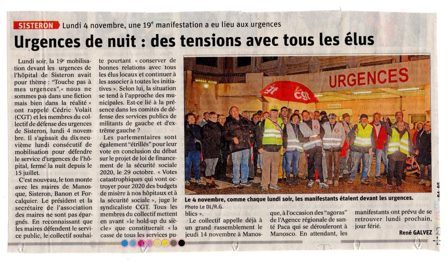 Article Le Dauphiné du 6 novembre 2019