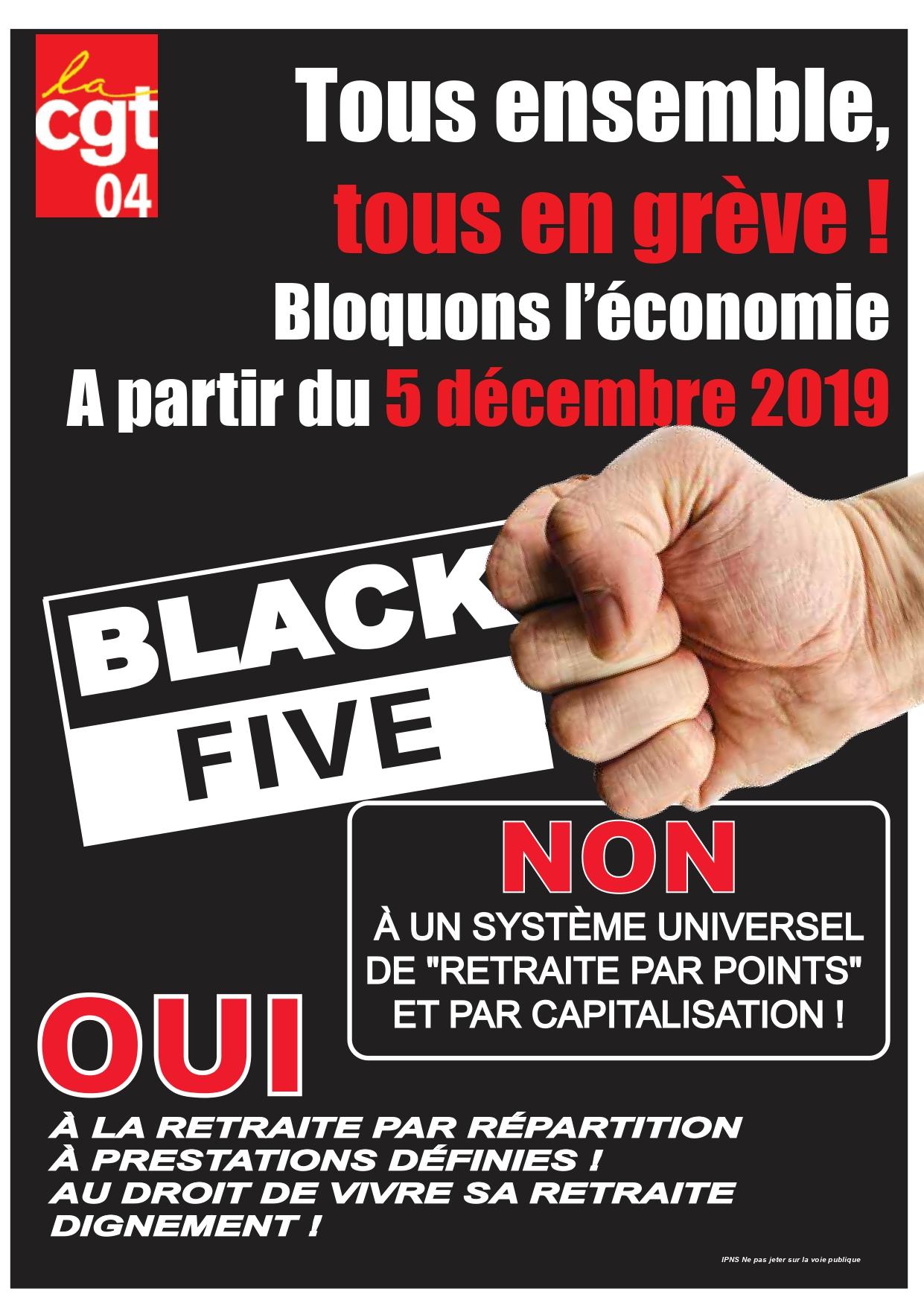 Tract UD CGT 04 Grèves 5 décembre 2019