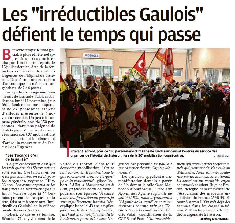 1190. Article La Provence du 13 novembre 2019