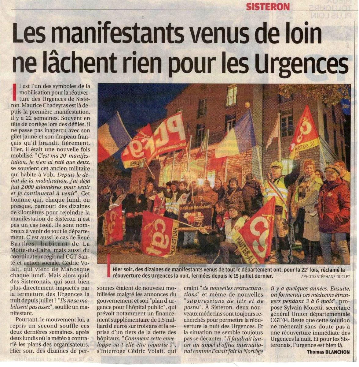 Article La Provence du 26 novembre 2019