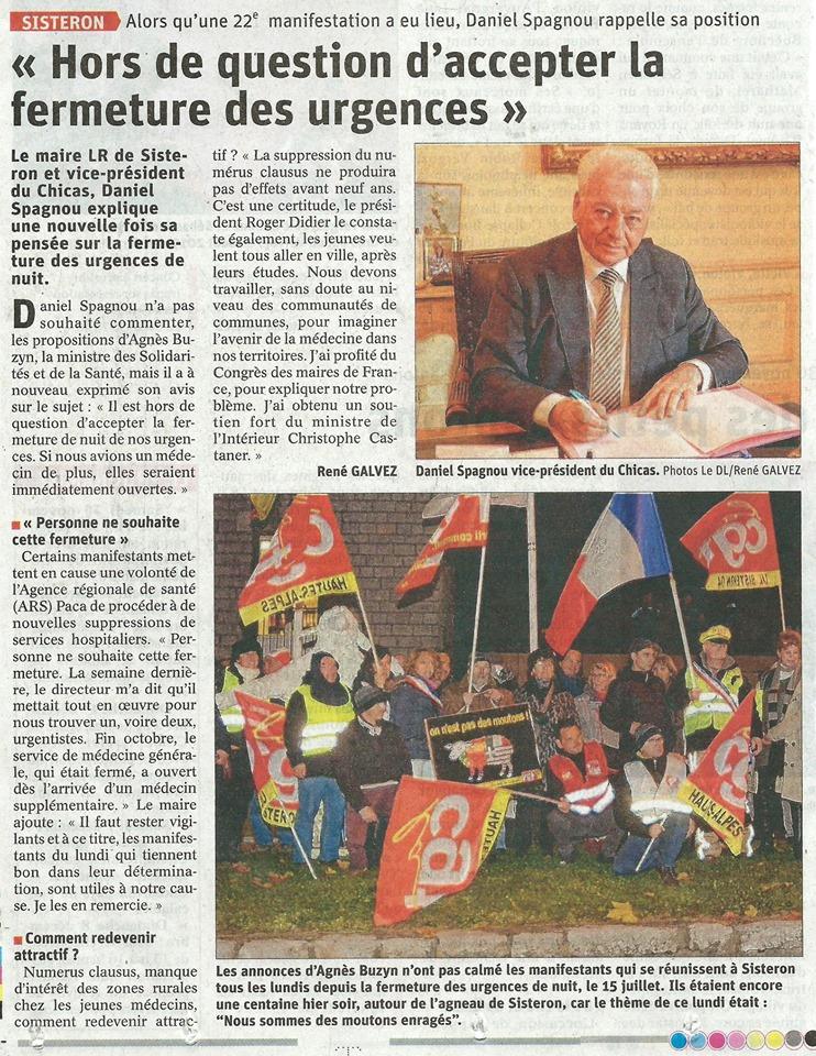 Article Le Dauphiné du 26 novembre 2019