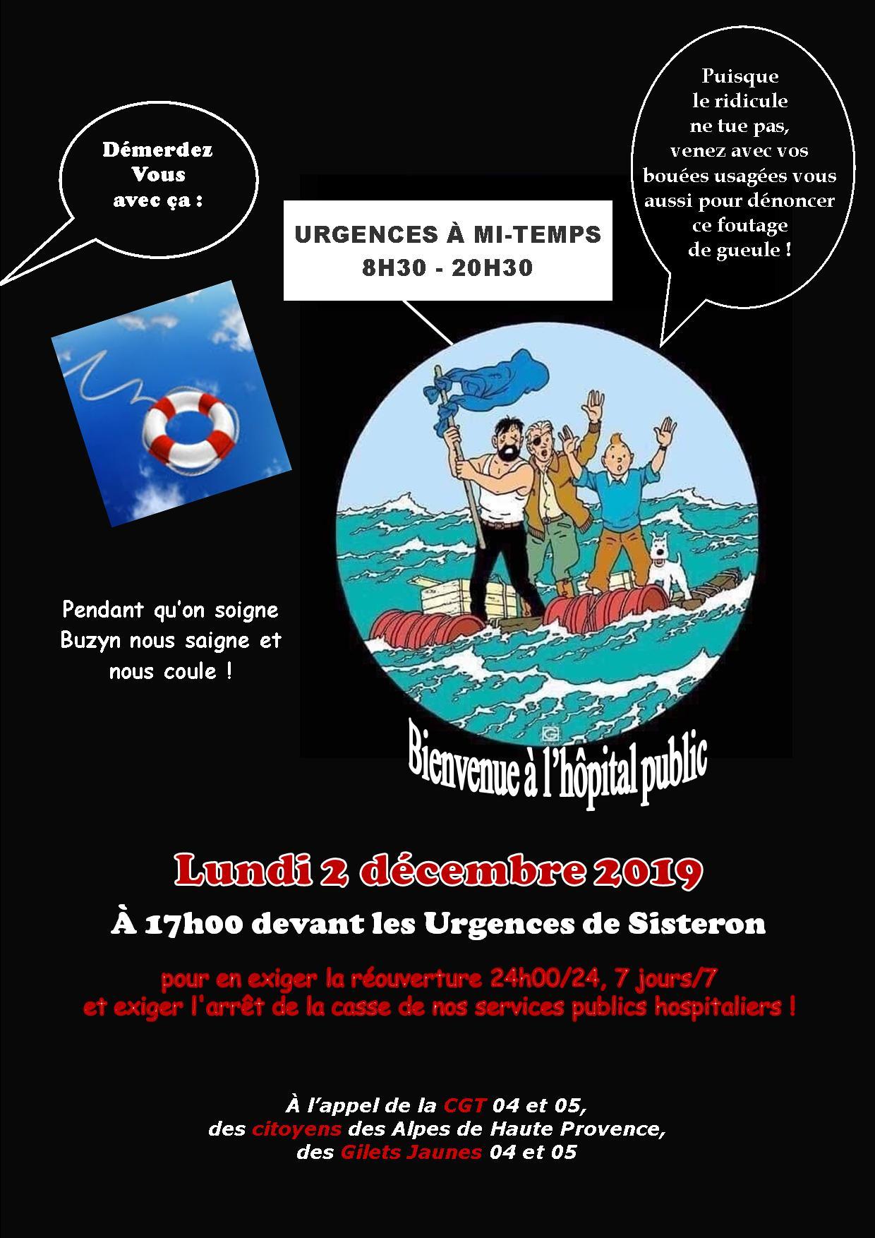 Tract urgences Sisteron pour le 2 décembre 2019