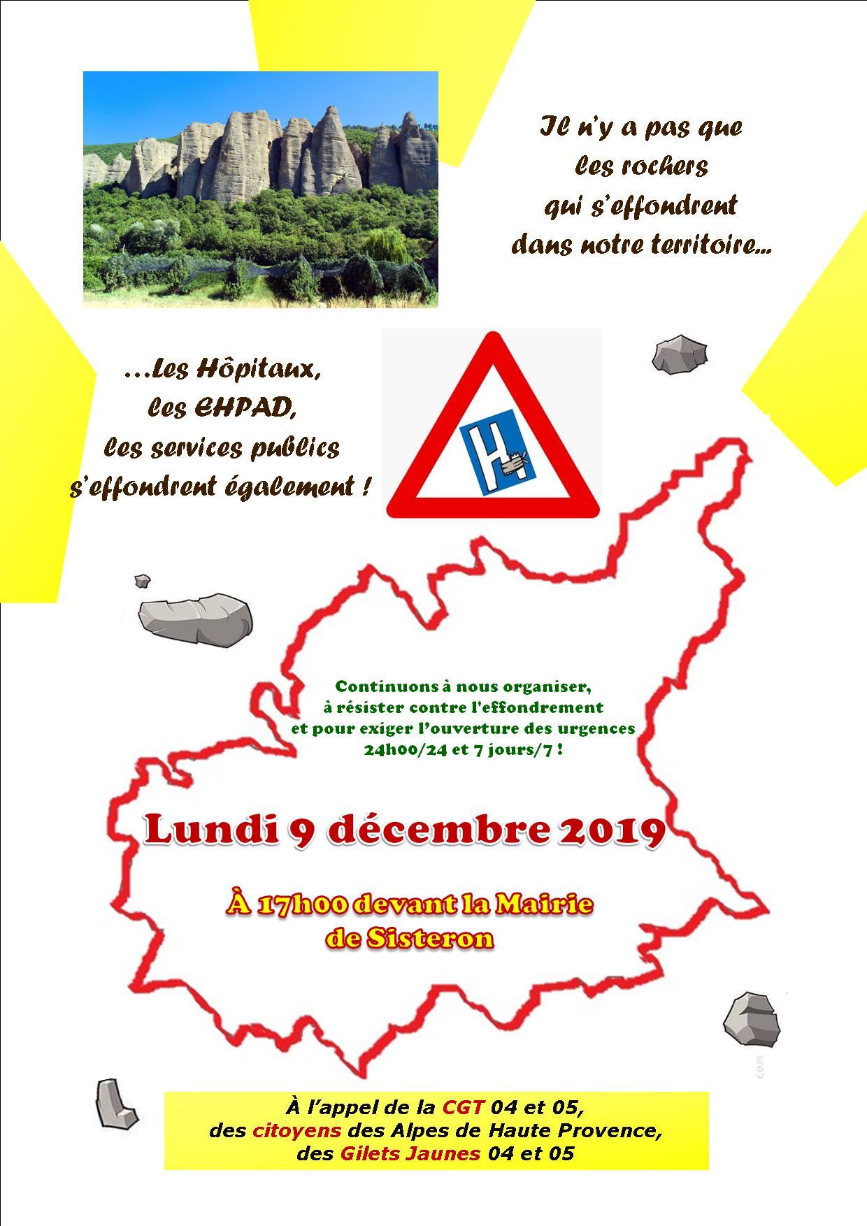 Tract Urgences Sisteron 9 décembre 2019