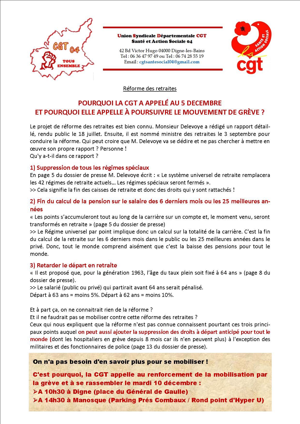 Tract USD CGT Santé Social 04 réforme retraites 10 décembre 2019