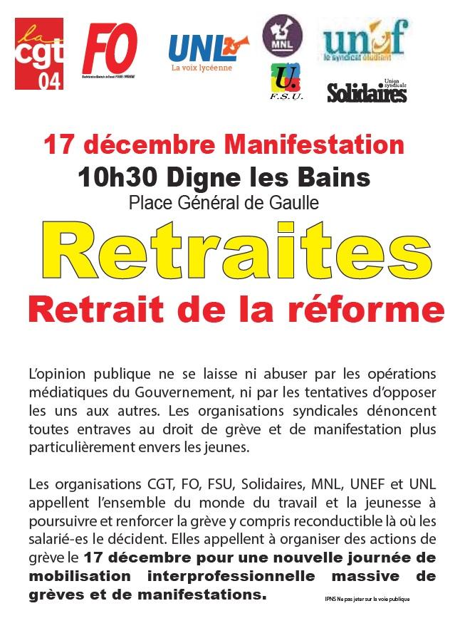 Tract UD CGT 04 réforme retraites 17 décembre 2019