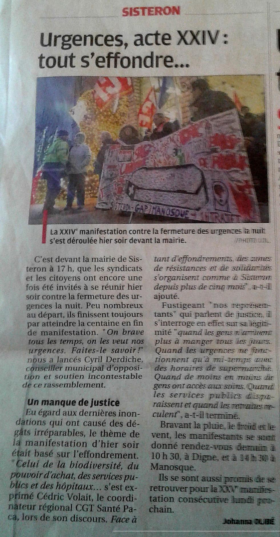 1207. Article La Provence du 10 décembre 2019