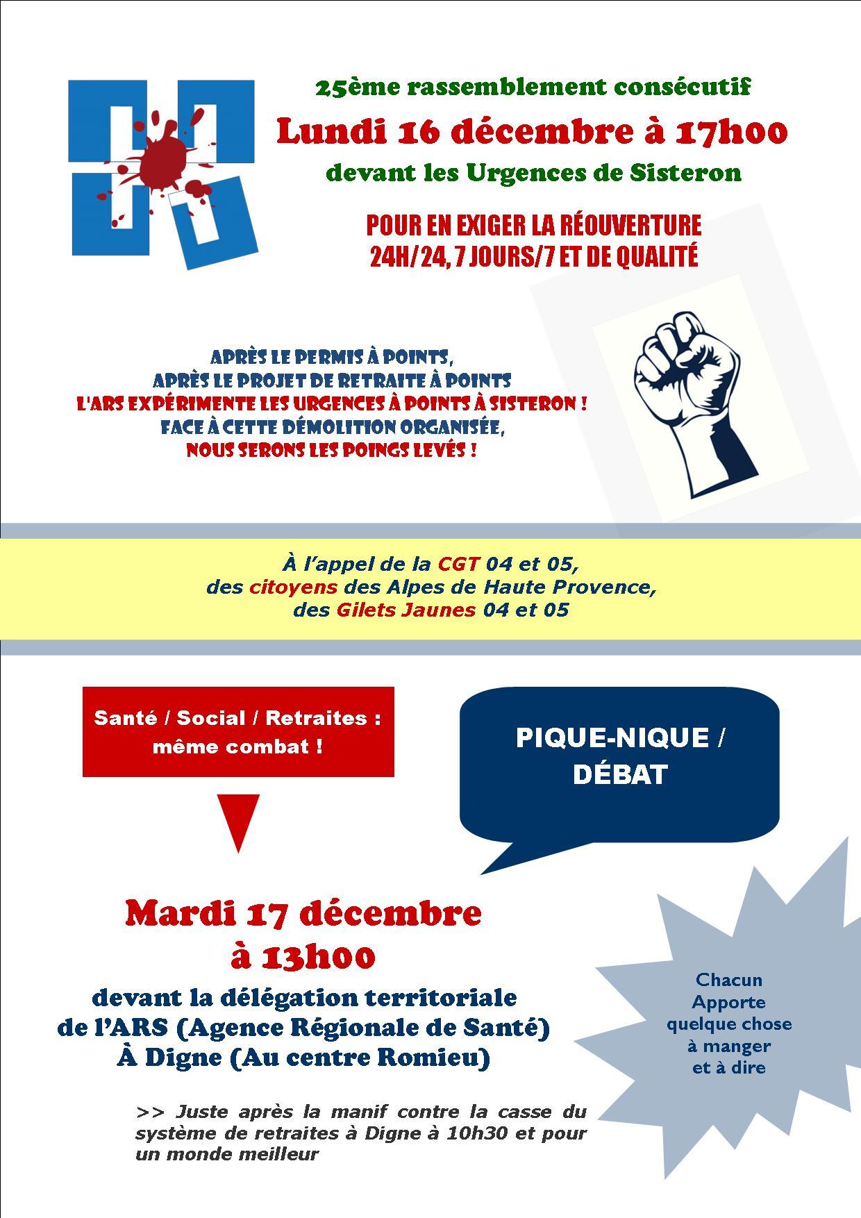 Tract CGT Santé et Action Sociale 04 ARS