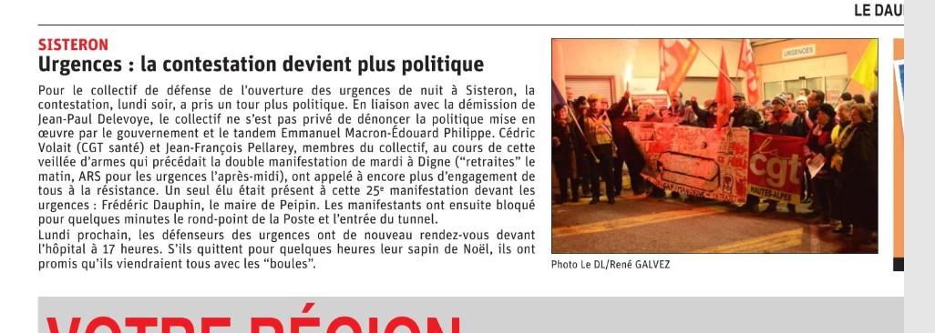 1208. Article Le Dauphiné du 17 décembre 2019
