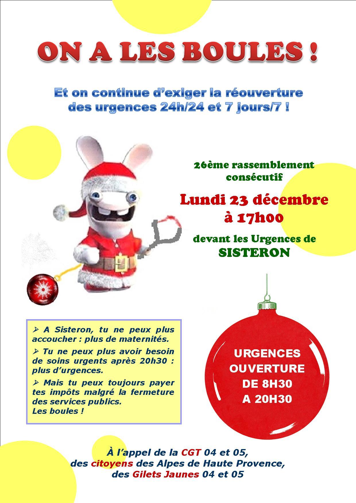 On a les boules aux Urgences de Sisteron