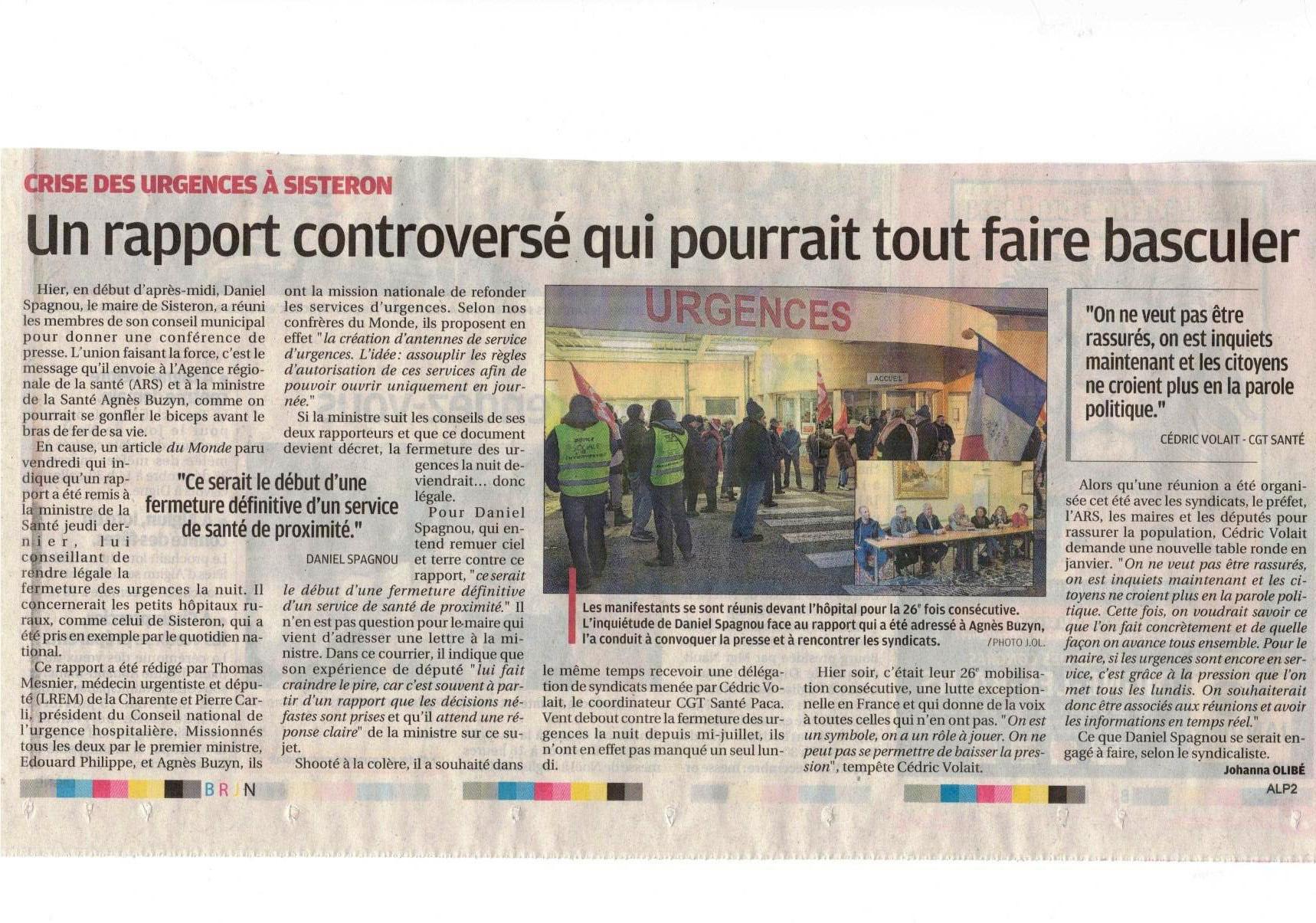 Article La Provence du 24 décembre 2019