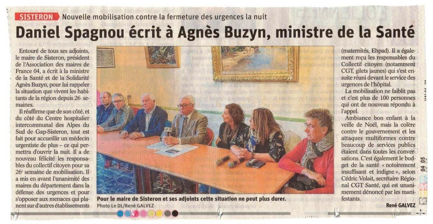 Article Le Dauphiné du 24 décembre 2019
