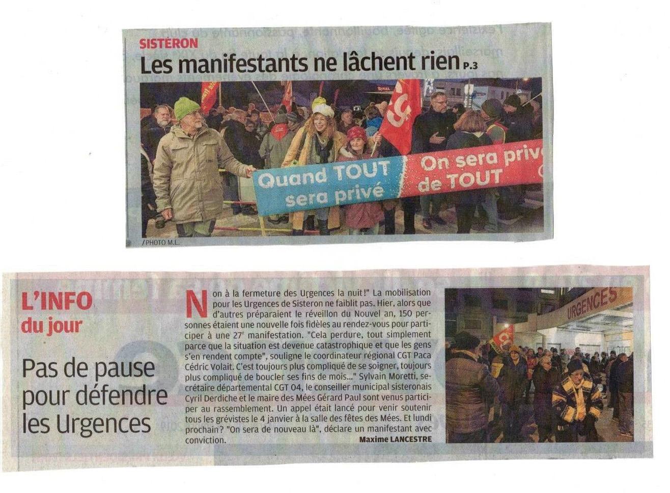 Article La Provence du 31 décembre 2019