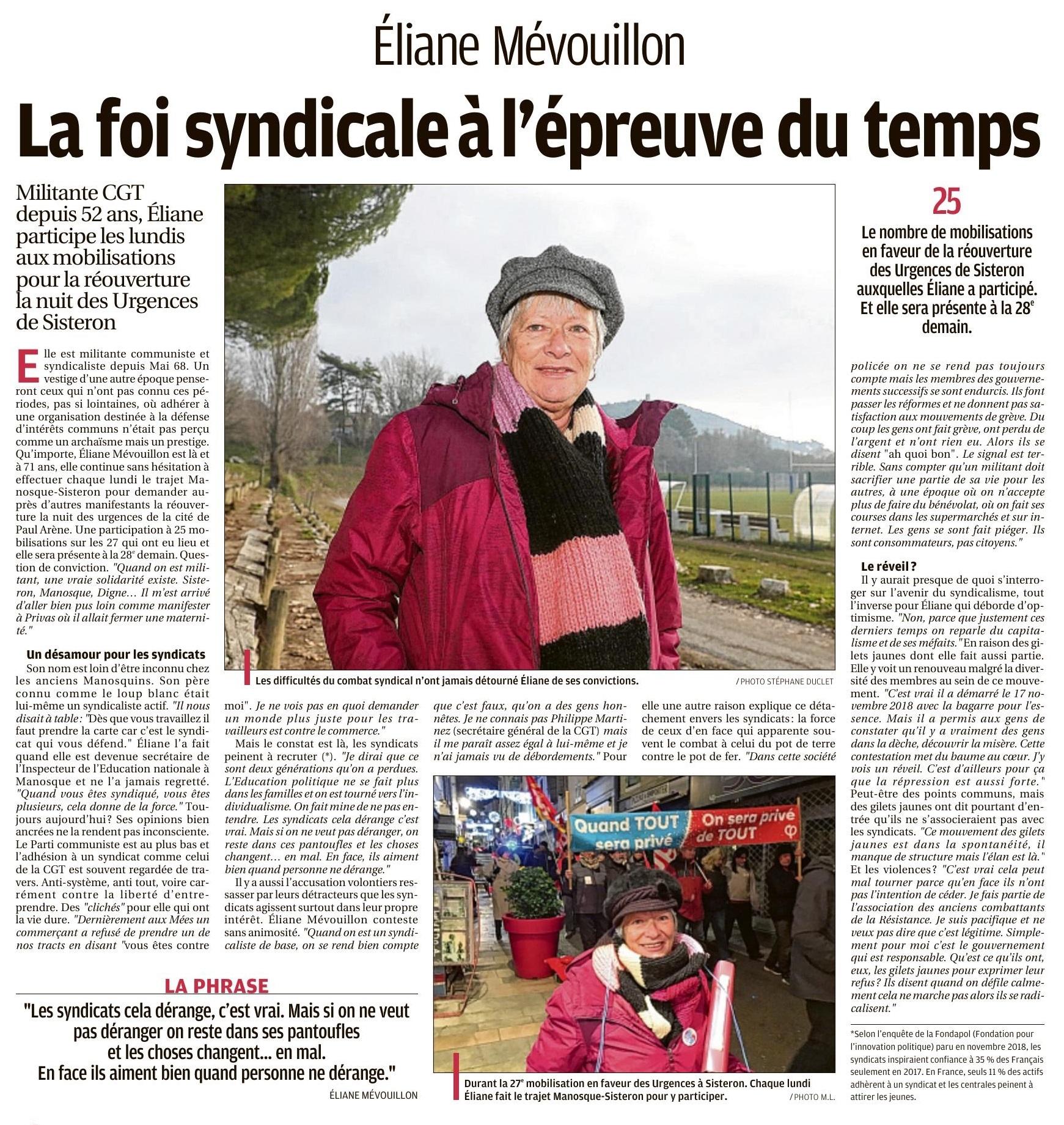 Article La Provence du 5 janvier 2020
